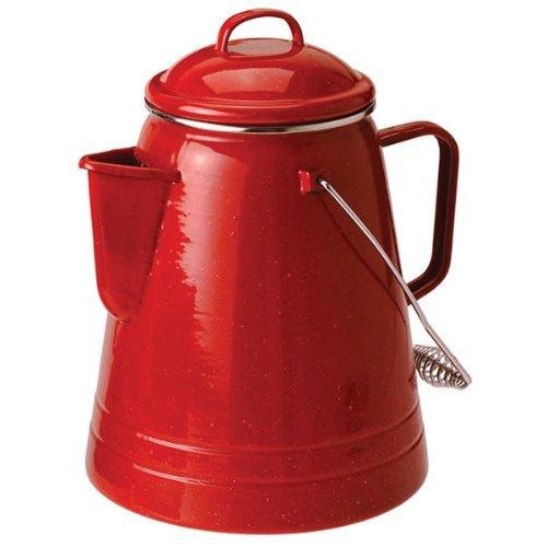 GSI Outdoors Pioneer Blue Enamelware 36 Cup Coffee Boiler, 82611