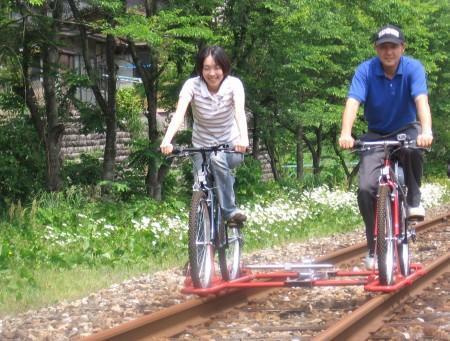 自転車の 神岡 自転車 線路 : 旧神岡鉄道 レール ...