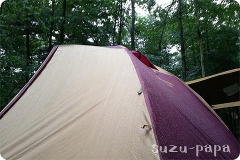 雨のタフドーム3025-中之条町-napiで雨キャンプ