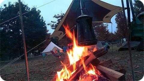 秋を感じるキャンプを「出会いの森」で\u2026その2(ローストビーフ編)