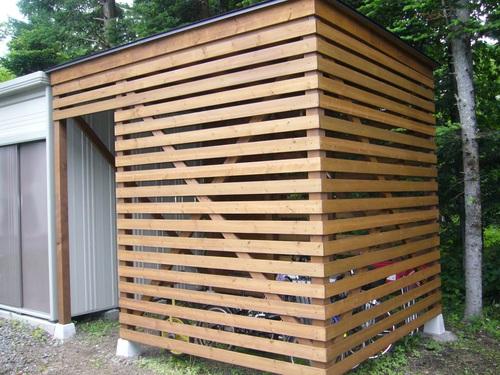 自転車屋 自転車屋根自作 : キャンプ日和:自転車置き場 DIY ...
